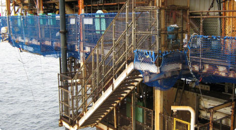 Safety Netting Oil Rig